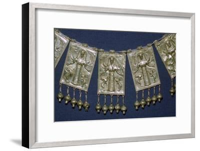 Greek gold pectoral plaques with Artemis, 7th century BC. Artist: Unknown-Unknown-Framed Giclee Print