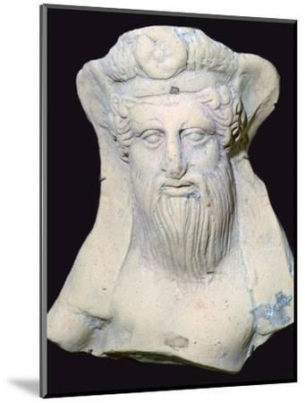 Terracotta head of Dionysus from a sanctuary. Artist: Unknown-Unknown-Mounted Photographic Print