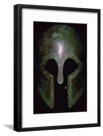 A Greek bronze helmet. Artist: Unknown-Unknown-Framed Giclee Print