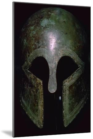 A Greek bronze helmet. Artist: Unknown-Unknown-Mounted Giclee Print