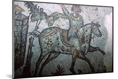 Mosaic of a Vandal on horseback, 5th century. Artist: Unknown-Unknown-Mounted Photographic Print