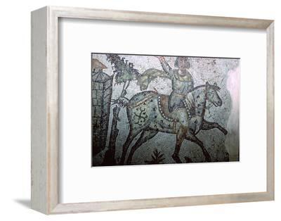 Mosaic of a Vandal on horseback, 5th century. Artist: Unknown-Unknown-Framed Photographic Print