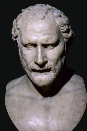Bust of the Greek statesman Demosthenes, 4th century BC. Artist: Unknown-Unknown-Framed Photographic Print