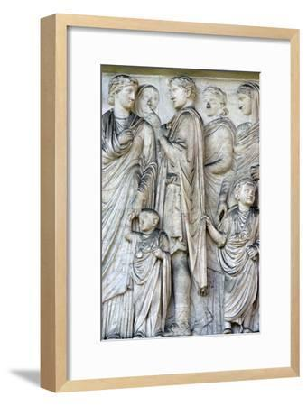 Detail from the Ara Pacis (Altar of peace), 2nd century BC. Artist: Unknown-Unknown-Framed Giclee Print