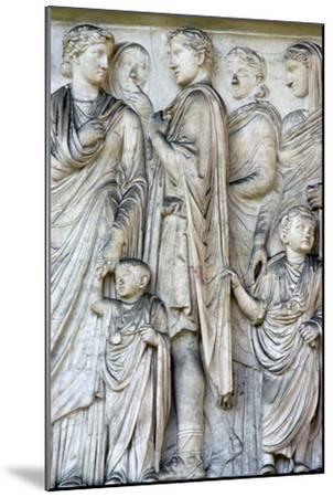 Detail from the Ara Pacis (Altar of peace), 2nd century BC. Artist: Unknown-Unknown-Mounted Giclee Print
