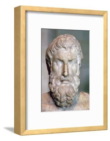 Bust of the Greek philosopher Epicurus, c3rd century BC. Artist: Unknown-Unknown-Framed Photographic Print