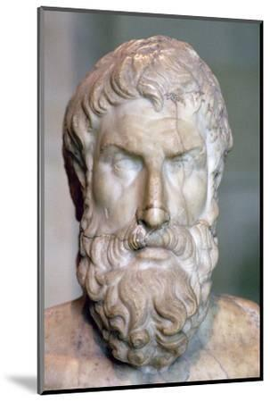 Bust of the Greek philosopher Epicurus, c3rd century BC. Artist: Unknown-Unknown-Mounted Photographic Print