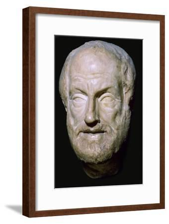 Bust of the Greek philosopher Aristotle, 4th century BC. Artist: Unknown-Unknown-Framed Giclee Print