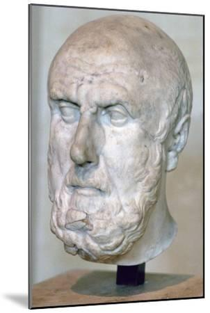 Bust of the Greek philosopher Chrysippus. Artist: Unknown-Unknown-Mounted Giclee Print