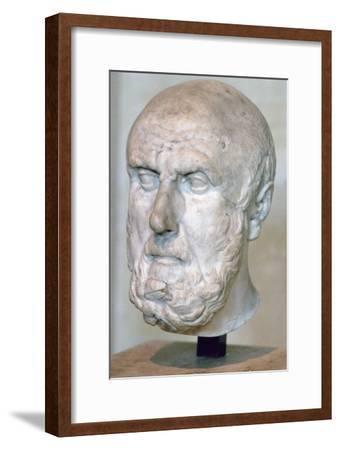Bust of the Greek philosopher Chrysippus. Artist: Unknown-Unknown-Framed Giclee Print