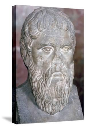 Bust of the Greek philosopher Plato, 4th century BC. Artist: Unknown-Unknown-Stretched Canvas Print
