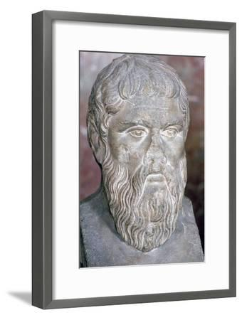 Bust of the Greek philosopher Plato, 4th century BC. Artist: Unknown-Unknown-Framed Giclee Print