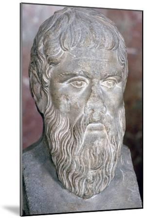 Bust of the Greek philosopher Plato, 4th century BC. Artist: Unknown-Unknown-Mounted Giclee Print