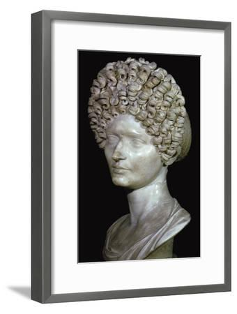Head of a Roman Lady, 1st century. Artist: Unknown-Unknown-Framed Giclee Print