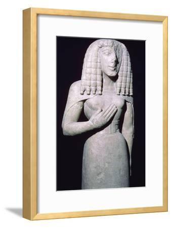 Greek sculpture of the 'Lady of Auxerre', 7th century BC. Artist: Unknown-Unknown-Framed Giclee Print