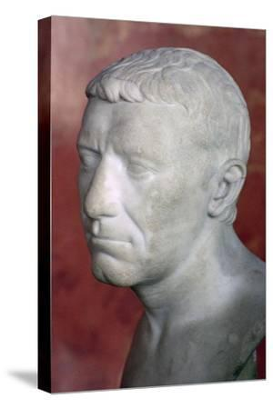 Bust of Corbulo, 1st century. Artist: Unknown-Unknown-Stretched Canvas Print