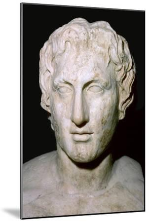 Bust of Alexander the Great, 4th century BC. Artist: Unknown-Unknown-Mounted Giclee Print