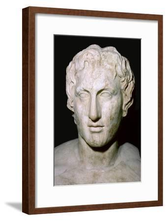 Bust of Alexander the Great, 4th century BC. Artist: Unknown-Unknown-Framed Giclee Print
