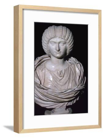 Bust of Julia Domna, 2nd century. Artist: Unknown-Unknown-Framed Giclee Print