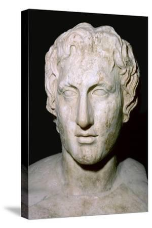 Bust of Alexander the Great, 4th century BC. Artist: Unknown-Unknown-Stretched Canvas Print
