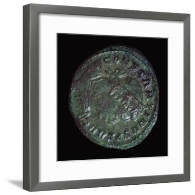 Bronze coin of Constantine I, 3rd century BC. Artist: Unknown-Unknown-Framed Giclee Print
