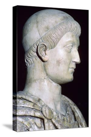 Bust of Constans I, 4th century. Artist: Unknown-Unknown-Stretched Canvas Print