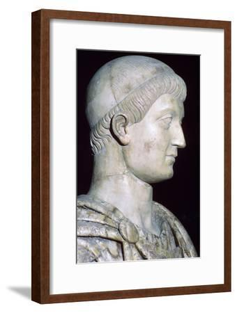 Bust of Constans I, 4th century. Artist: Unknown-Unknown-Framed Giclee Print