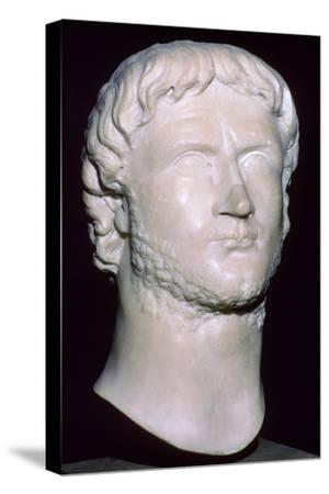 Bust of Gallienus, 3rd century. Artist: Unknown-Unknown-Stretched Canvas Print