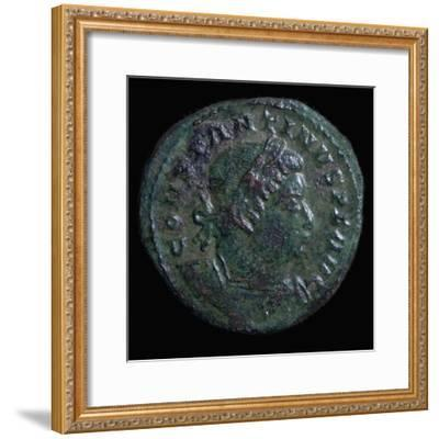 Bronze coin of Constantine I, 4th century. Artist: Unknown-Unknown-Framed Giclee Print