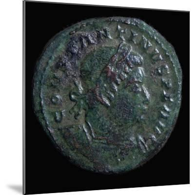 Bronze coin of Constantine I, 4th century. Artist: Unknown-Unknown-Mounted Giclee Print