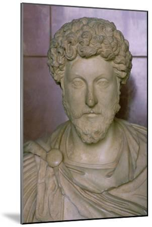 Bust of Marcus Aurelius, 2nd century. Artist: Unknown-Unknown-Mounted Giclee Print