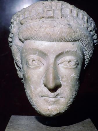 Bust of Theodosius II, 5th century. Artist: Unknown-Unknown-Framed Giclee Print