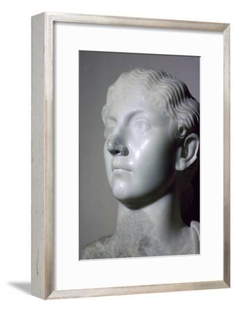 Bust of Antonia the Younger. Artist: Unknown-Unknown-Framed Giclee Print