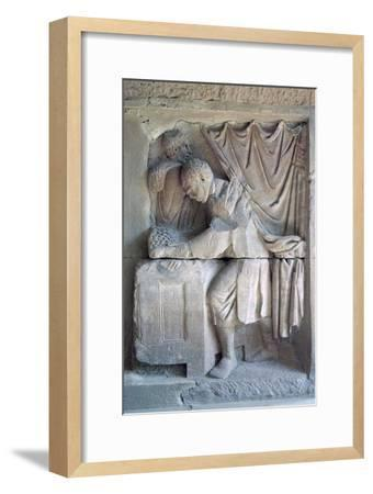 Roman relief of a tax-collector. Artist: Unknown-Unknown-Framed Giclee Print