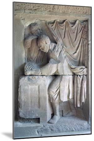 Roman relief of a tax-collector. Artist: Unknown-Unknown-Mounted Giclee Print
