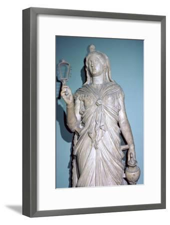 Romanised statue of Isis. Artist: Unknown-Unknown-Framed Giclee Print