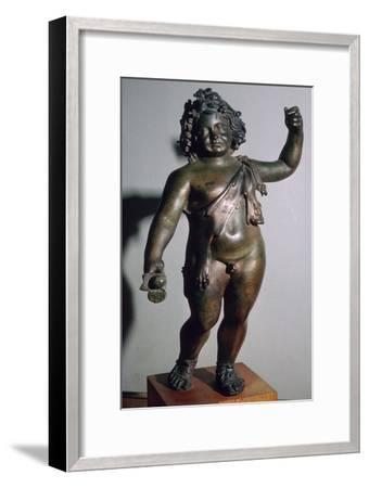 Roman bronze of the infant Bacchus. Artist: Unknown-Unknown-Framed Giclee Print
