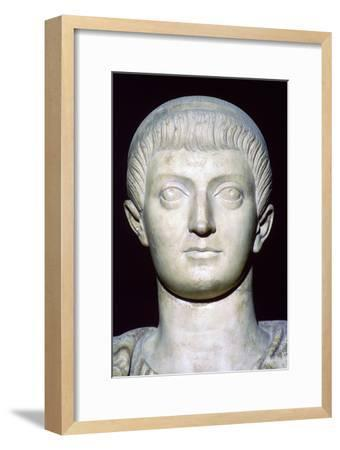 Bust of Constans I. Artist: Unknown-Unknown-Framed Giclee Print