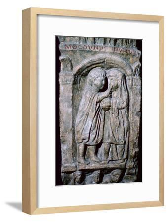 Roman relief of an oculist at work. Artist: Unknown-Unknown-Framed Giclee Print