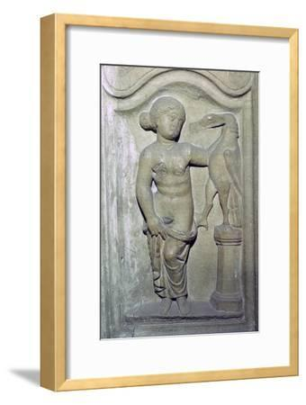 Roman relief of Leda and the Swan. Artist: Unknown-Unknown-Framed Giclee Print