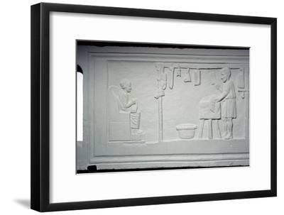 Roman relief of a butcher's shop. Artist: Unknown-Unknown-Framed Giclee Print