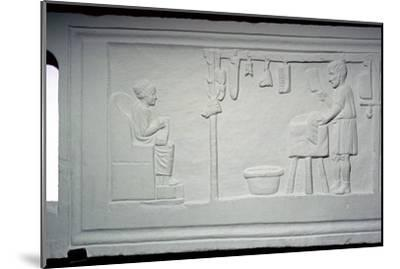 Roman relief of a butcher's shop. Artist: Unknown-Unknown-Mounted Giclee Print