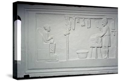 Roman relief of a butcher's shop. Artist: Unknown-Unknown-Stretched Canvas Print