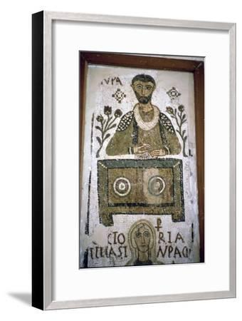 Mosaic of a man writing at a desk, 4th century. Artist: Unknown-Unknown-Framed Giclee Print