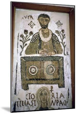 Mosaic of a man writing at a desk, 4th century. Artist: Unknown-Unknown-Mounted Giclee Print