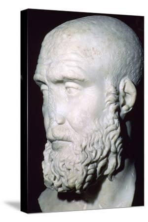Bust of Pupienus Maximus, 2nd century. Artist: Unknown-Unknown-Stretched Canvas Print
