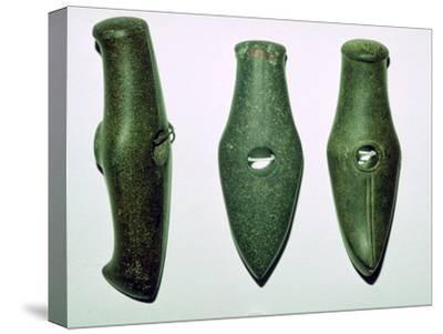 Neolithic stone axes. Artist: Unknown-Unknown-Stretched Canvas Print