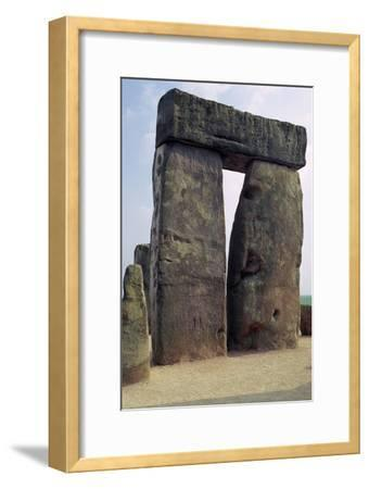 Detail of Stonehenge, c.3000-2000 BC Artist: Unknown-Unknown-Framed Giclee Print