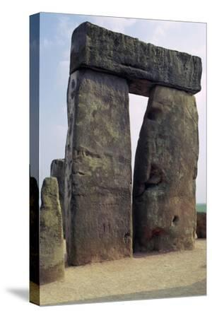 Detail of Stonehenge, c.3000-2000 BC Artist: Unknown-Unknown-Stretched Canvas Print
