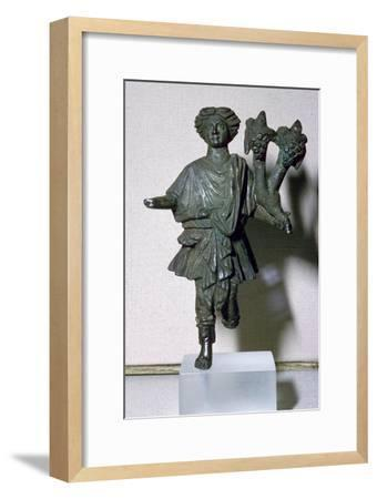 Bronze lar holding a double cornucopia. Artist: Unknown-Unknown-Framed Giclee Print